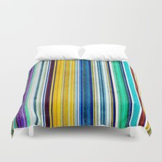 Colorful Stripes With Texture Duvet Cover