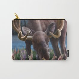 Happy Moose Carry-All Pouch