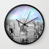 new york city Wall Clocks featuring New York City. by 2sweet4words Designs