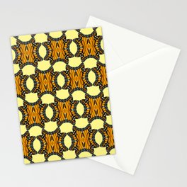 Monarch Butterfly Patterned Print in Orange Yellow and Brown Stationery Cards