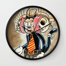 The Mask of Death and Rebirth Wall Clock