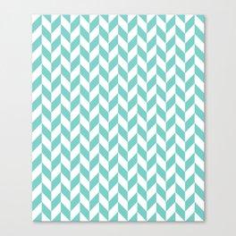 Tiffany Herringbone Pattern Canvas Print