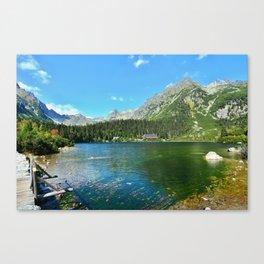 Popradske pleso lake Canvas Print