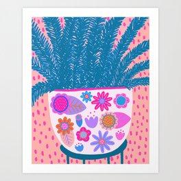 Messy plant Art Print