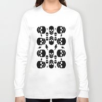 skulls Long Sleeve T-shirts featuring skullS by HEADBANGPARTY