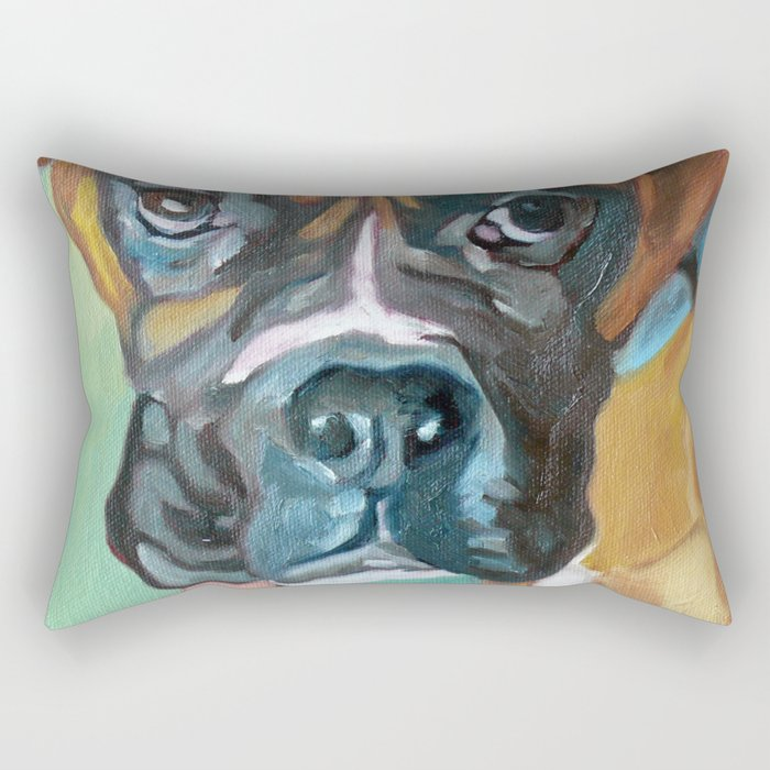 Drako the Rescued Boxer Rectangular Pillow