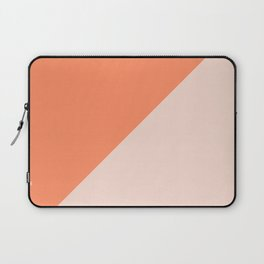 Bright Orange & Nude pink - oblique Laptop Sleeve