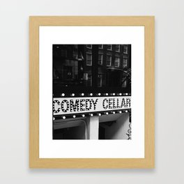 New York Comedy Cellar Framed Art Print