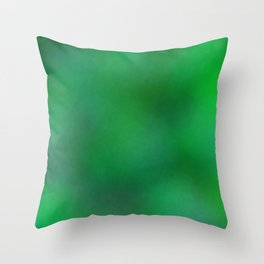 Color gradient and texture 76 green Throw Pillow