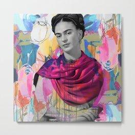 Frida Kahlo Expressionist Metal Print