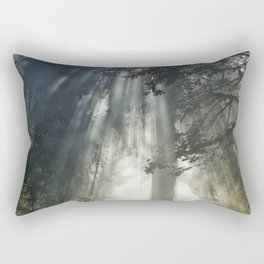 Smoke and Sun Filtered Through a Fir Tree Rectangular Pillow