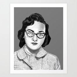 Vintage Photo Booth Babe #2 Art Print