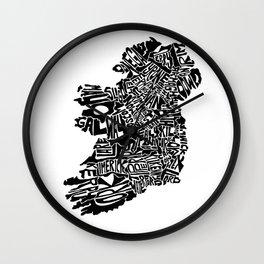 Typographic Ireland Wall Clock