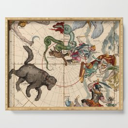 Constellation Chart 1693f Serving Tray