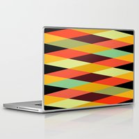 diamonds Laptop & iPad Skins featuring multicolor diamond pattern by Gary Andrew Clarke