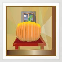 pumpkin Art Prints featuring Pumpkin by smoothimages