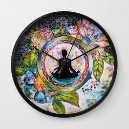 Meditation bag Wall Clock