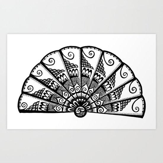 A Fine Fan Art Print