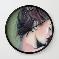 emerald Wall Clocks featuring Emerald  by Madelyne Joan Templeton