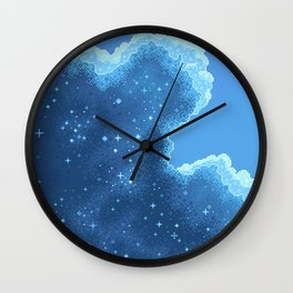8bit Glacier Galaxy: Art Along #2 Wall Clock