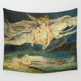"""William Blake """"Pity"""" Wall Tapestry"""