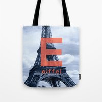 eiffel Tote Bags featuring Eiffel by Haiku On the Move