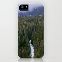 Waterfall in gifford-pinchot national forest, washington iPhone Case