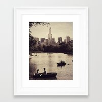 central park Framed Art Prints featuring Central Park by C Liza B