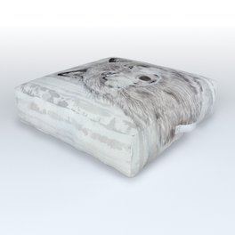 """Watercolor Painting of Picture """"Wolf"""" Outdoor Floor Cushion"""