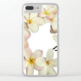 Plumeria Tropical Flower Garland Clear iPhone Case