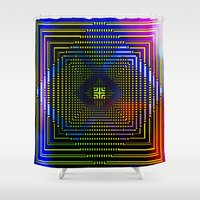 square Shower Curtains featuring Square by Mr & Mrs Quirynen