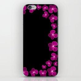 Magenta Flower Chain iPhone Skin