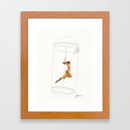 French Press Pole Dancer Framed Art Print
