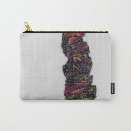 Paisley Ruffle Carry-All Pouch