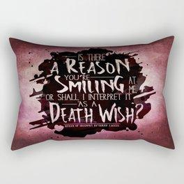 Death Wish quote Design Rectangular Pillow
