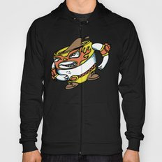 The flying luchador mug of coffee Hoody