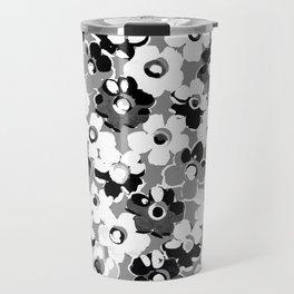 Fashion Floral design Black&White print Travel Mug