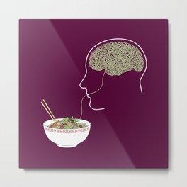 Noodle Brain Metal Print