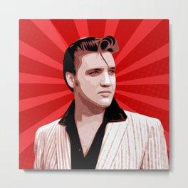 Elvis Presley - Pop Art Metal Print