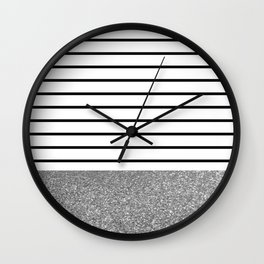 MaRINiera with silver Wall Clock