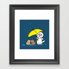 Hmmm. It's raining Framed Art Print