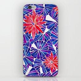 Water Lilies – Indigo & Red Palette iPhone Skin