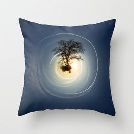 Tiny Planet 5 - The Last Lampost Throw Pillow
