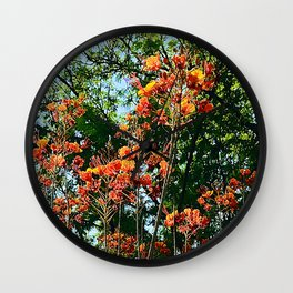 Flowers In The Trees Scenic Art Photo Wall Clock