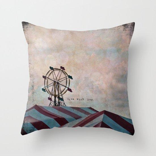 Live With Joy Throw Pillow