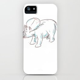 Dinosaurs 3 - Brachyceratops iPhone Case