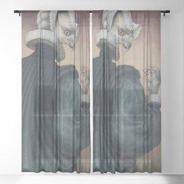Fragile Assertion Sheer Curtain
