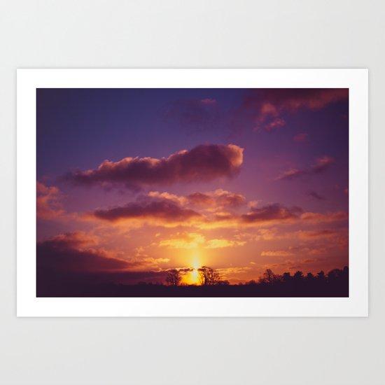 Morning Hues Art Print