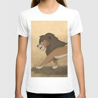 lions T-shirts featuring Running lions by Drawing For Hope