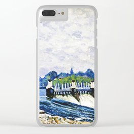 Alfred Sisley - Molesey Weir, Hampton Court Clear iPhone Case